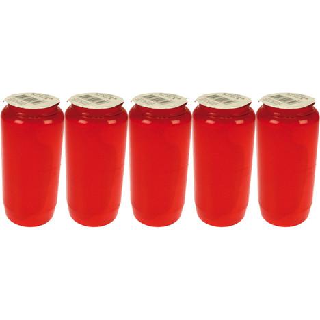 Grablicht Öllicht Nr 7 rot 5er Pack