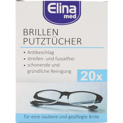 Brillenputztücher Elina 20er Antibeschlagswirkung