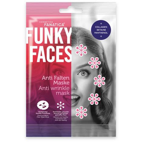 FUNKY FACES Tuchmaske fürs Gesicht 'Anti Falten'