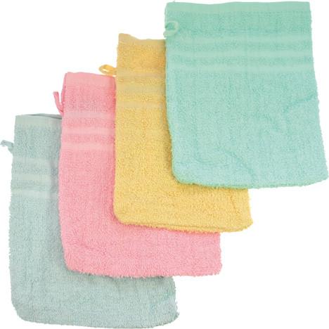 Waschhandschuh 21x15cm 4 Farben sortiert