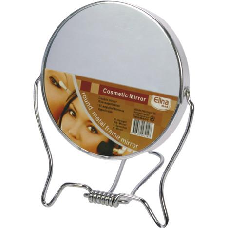 Spiegel 2-seitig zum Stellen 9,5cm aus Metall