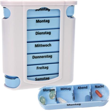 Pillen-/ Tablettenbox 13x11x4cm Wocheneinteilung