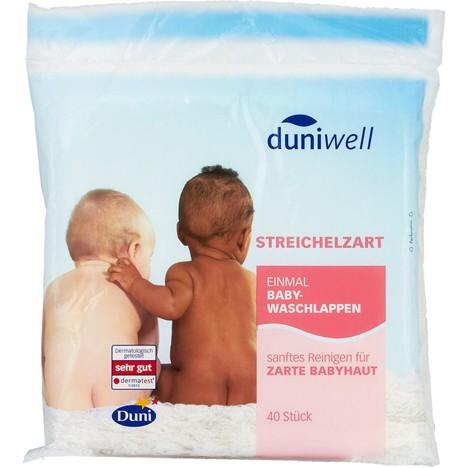 Duniwell Baby Einmalwaschlappen 40er