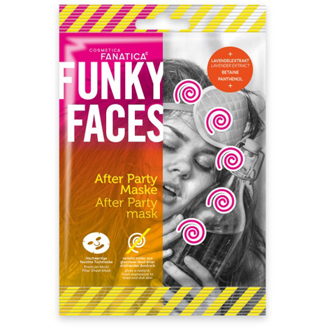 FUNKY FACES Tuchmaske fürs Gesicht 'After Party'