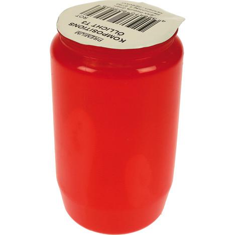 Grablicht Öllicht rot 9,5 x 5cm