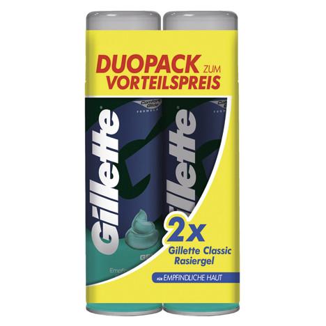 Gillette Rasiergel 2x200ml empfindliche Haut