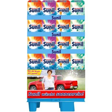 Sunil Waschpulver 15WL 4er Mixdisplay