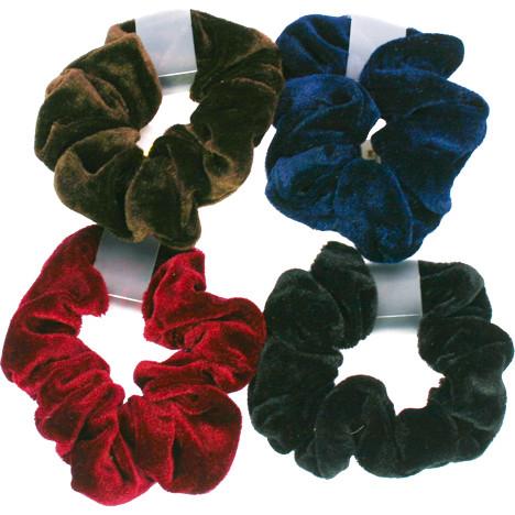 Haarzopfband samt 9,5cm farbig sortiert