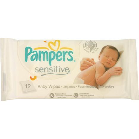 Feuchttücher Pampers 12er Sensitive mit Kamille