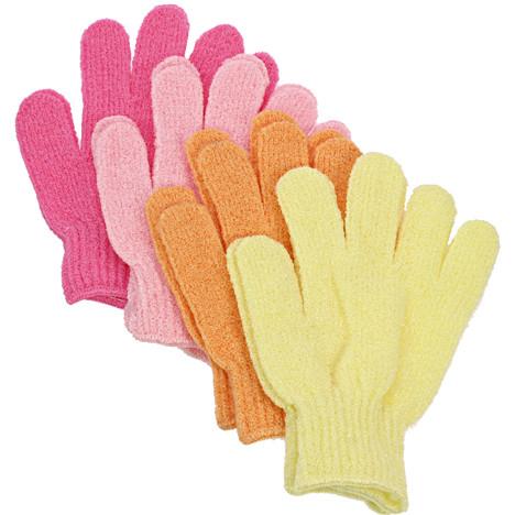 Waschhandschuh Massage 2er Pastellfarben 17x12cm