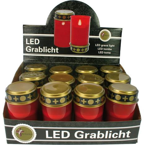 Grablicht elektrisch 12cm rot i.Dis.ohne Batterie