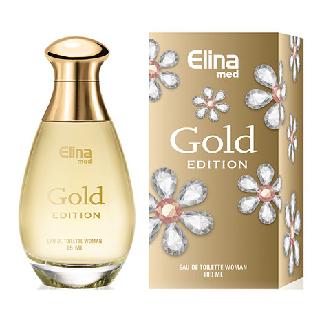 Parfüm Elina Gold Women 100ml, im Glasflacon