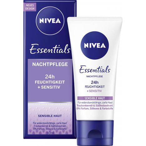 Nivea Visage Nachtcreme Sensitive 50ml parfümfrei
