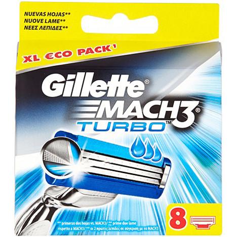 Gillette Mach3 Turbo 8er Klingen