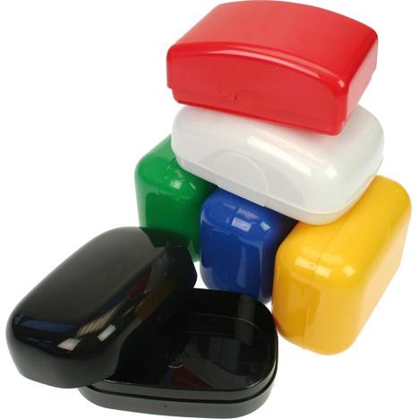 Seifendose unifarben Farben sortiert 10x7x4cm.