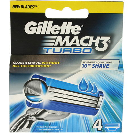 Gillette Mach3 Turbo 4er Klingen