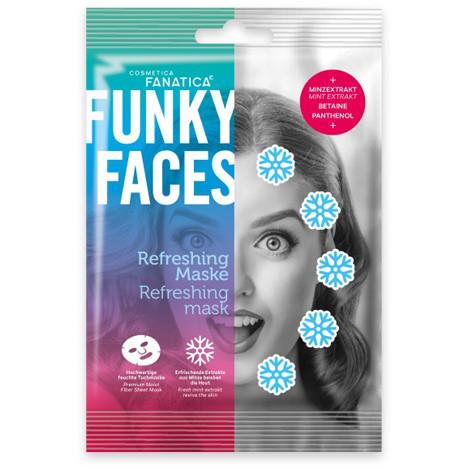 FUNKY FACES Tuchmaske fürs Gesicht 'Erfrischung'