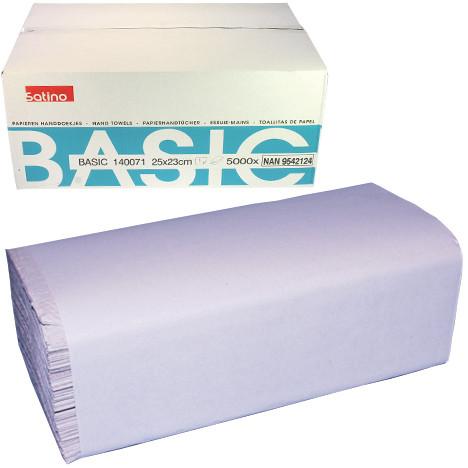 Papierhandtücher 23x25cm m. Z-Falz 5000 Stück