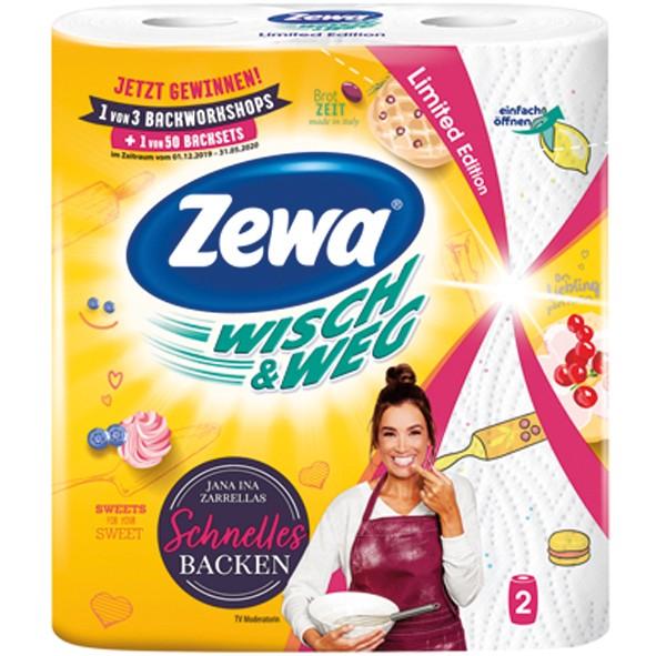 Haushaltsrolle Zewa 2x72 Blatt Fun Design