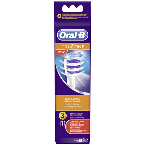 Oral B Aufsteckzahnbürsten Trizone 3er