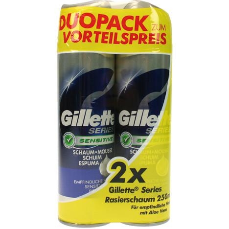 Gillette Series Schaum 2x250ml empfindl. Haut
