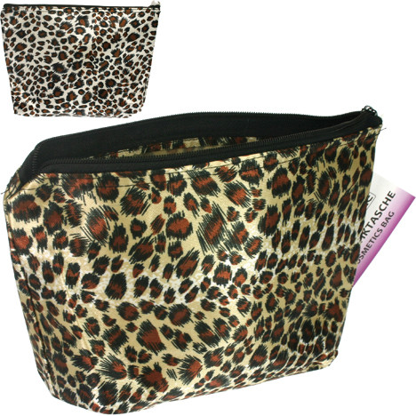 Kosmetiktasche 18x16,5x4cm Tigerlook 2 fach sort.
