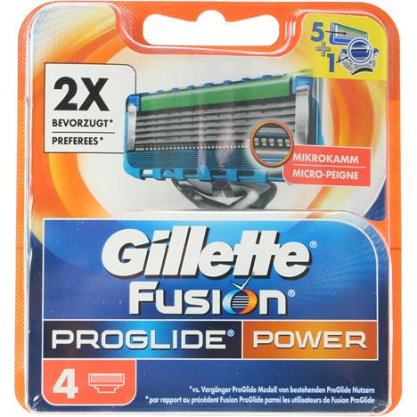 Gillette Fusion ProGlide Power 4er Klingen