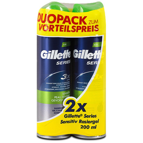 Gillette Series Rasiergel 2x200ml empfindl. Haut