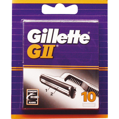 Gillette G II 10er Klingen