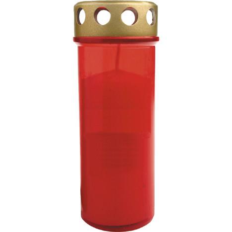 Grablicht Brenner Nr.5 rot Golddeckel XL