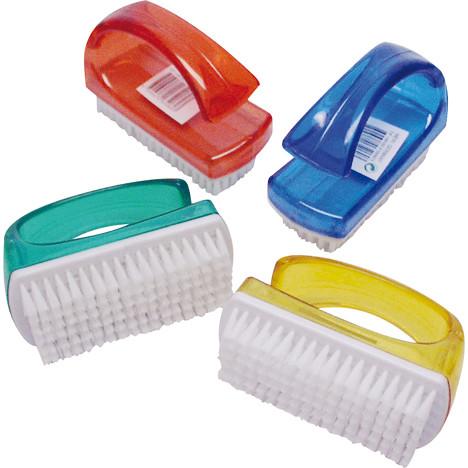 Handwaschbürste, offener Bügel, Trendfarben 9x6cm