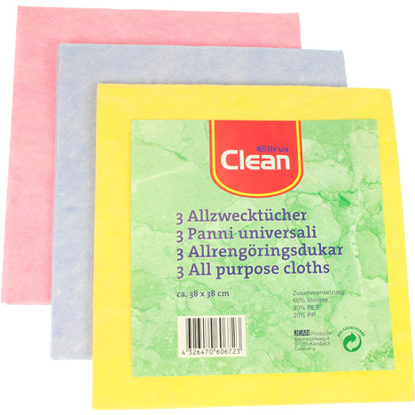 Allzwecktuch CLEAN 38x38cm 3er Pack Thermo-Vlies