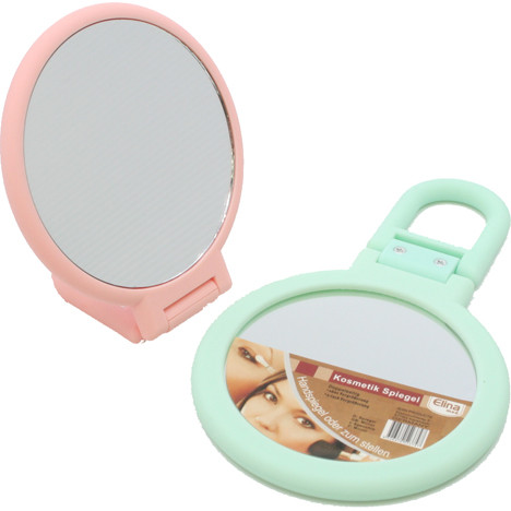 Spiegel 2-seitig für Hand & z.Stellen 15 x 9cm