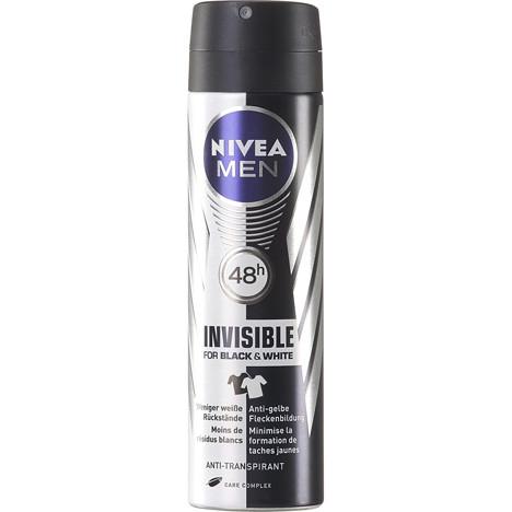 Nivea Deospray Men 150ml Invisible Black & White
