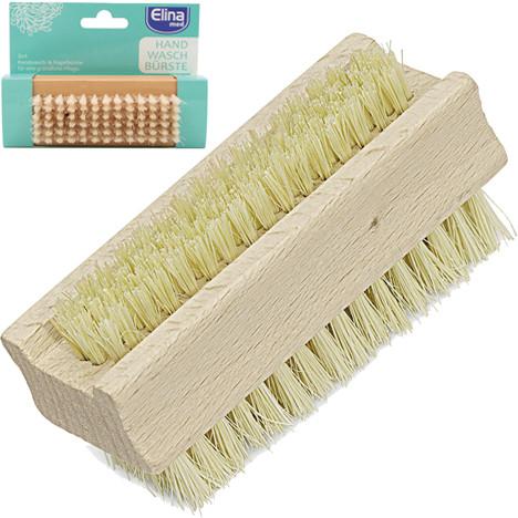 Handwaschbürste Holz 2 seitig, 9,5cm an Karte