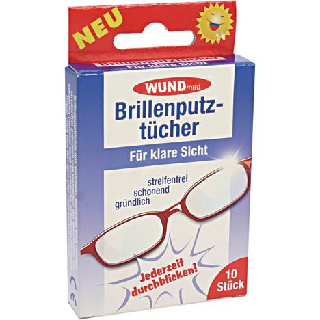 Brillenputztücher 10er mit Antibeschlagwirkung