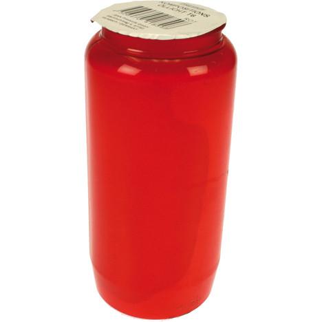 Grablicht Öllicht Nr 7 rot 14 x 6cm