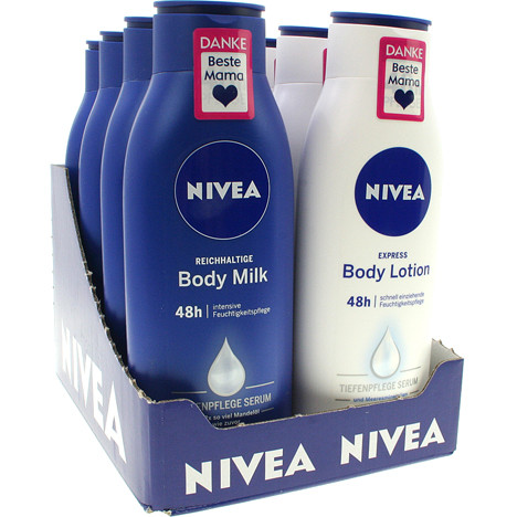 Nivea Milk/Lotion 400ml 18er MixDisplay