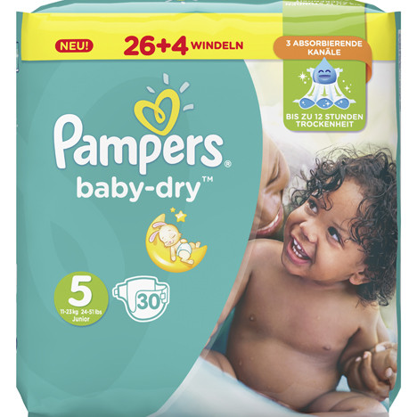 Pampers Windeln Baby Dry Größe 5 Junior (11-23kg)