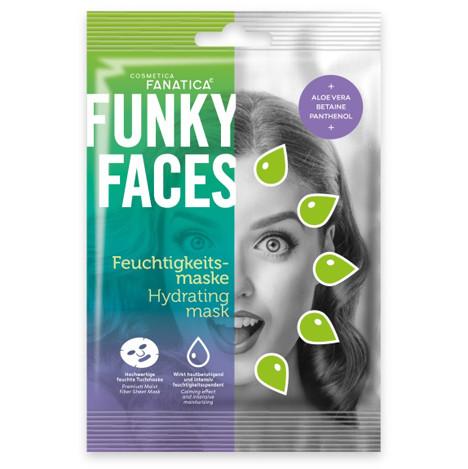 FUNKY FACES Tuchmaske fürs Gesicht 'Feuchtigkeit'