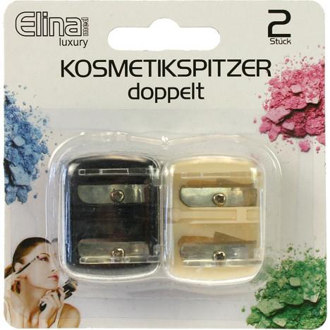 Kosmetik Spitzer 4cm 2er Set je 2 Größen, a.Karte