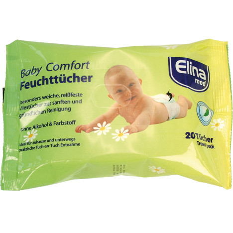 Feuchttücher 20er Elina Baby Aloe Vera 20x21cm