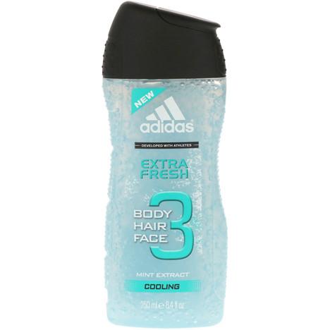 Adidas Dusch 250ml 3in1 Extra Fresh