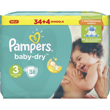 Pampers Windeln Baby Dry Größe 3 Midi (5-9kg)