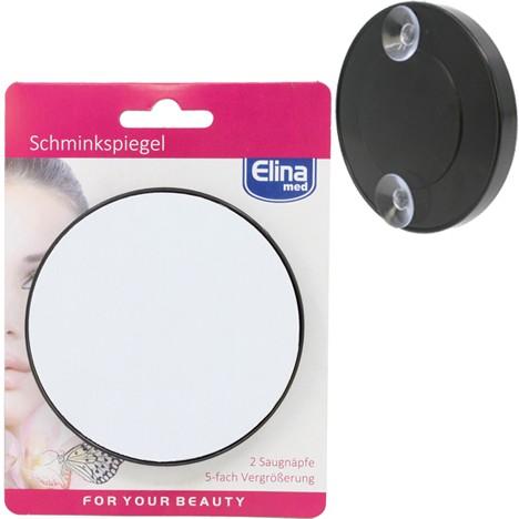Spiegel Schminkspiegel 9cm, mit 5x Vergößerung