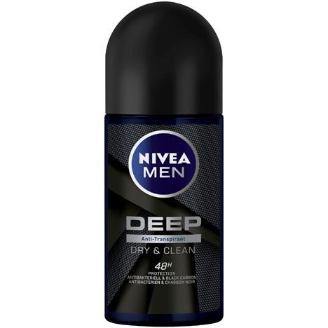 Nivea Deoroller 50ml Men Deep Dry + Clean