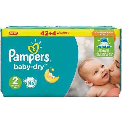 Pampers Baby Dry Größe 2 Mini (3-6kg) 37 Stück