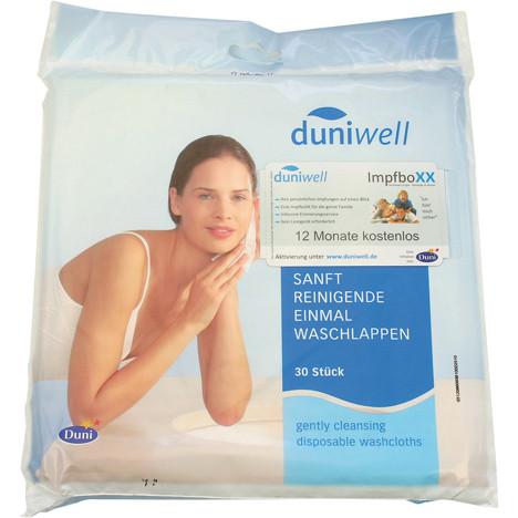 Duniwell Einmalwaschlappen 30er 20 x 20cm