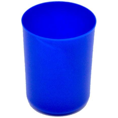 Zahnputzbecher unifarben blau ca. 250ml 8x6cm