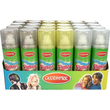 Haarspray Glitter auch für Dekolleté 125ml Displ.